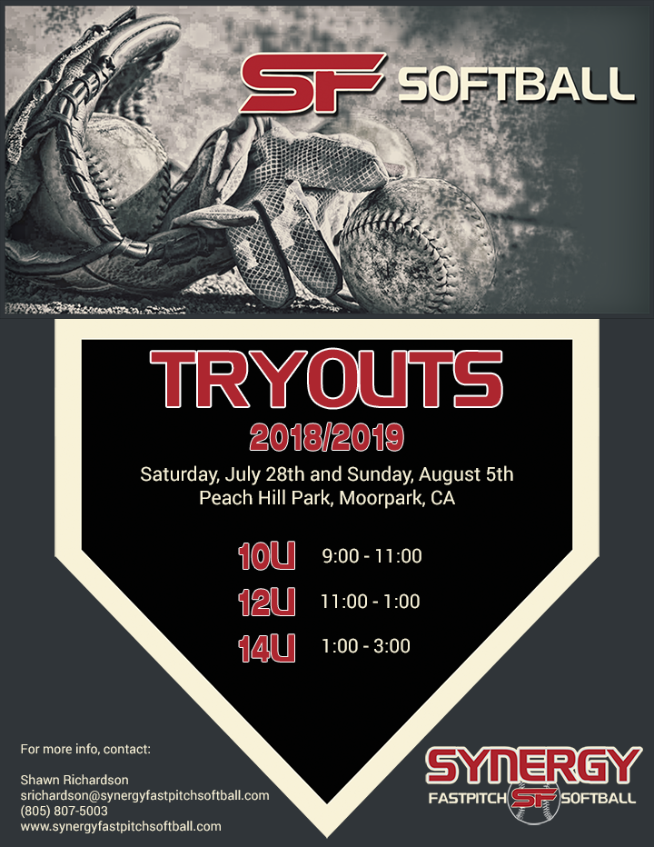 Tryouts for the 2018/2019 Season - Synergy Fastpitch Softball