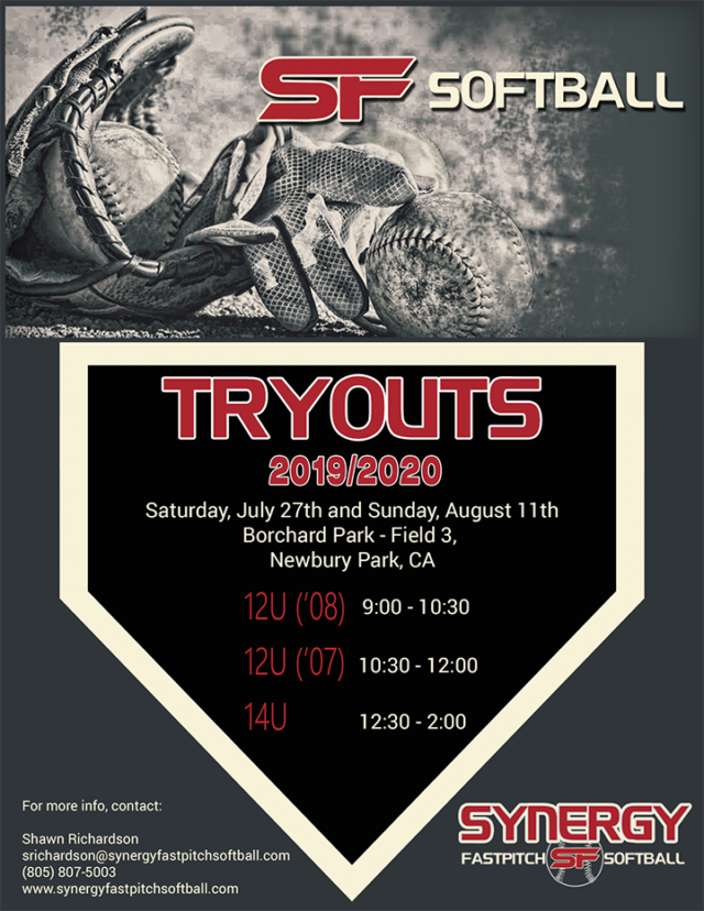 Tryouts for the 2019/2020 Season